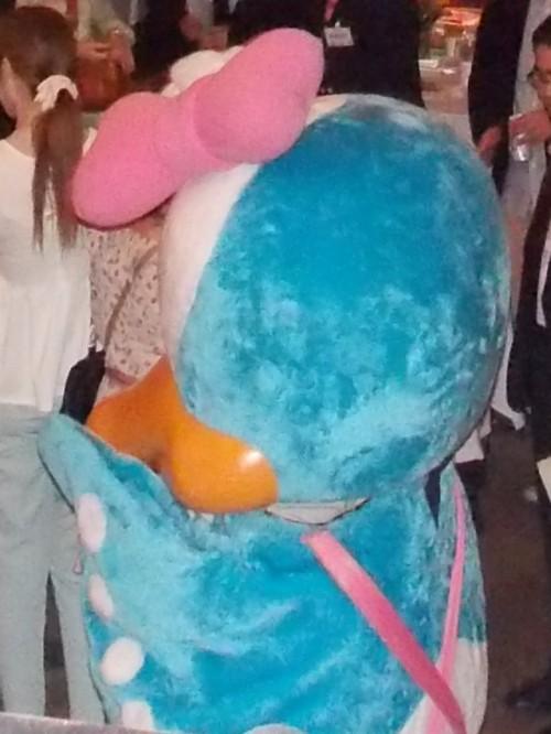苫小牧信用金庫さんが特別協賛ということで、苫信キャラのタララちゃんもキューピッド役で登場!人気者でした♪